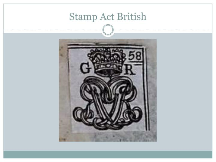 Stamp Act British