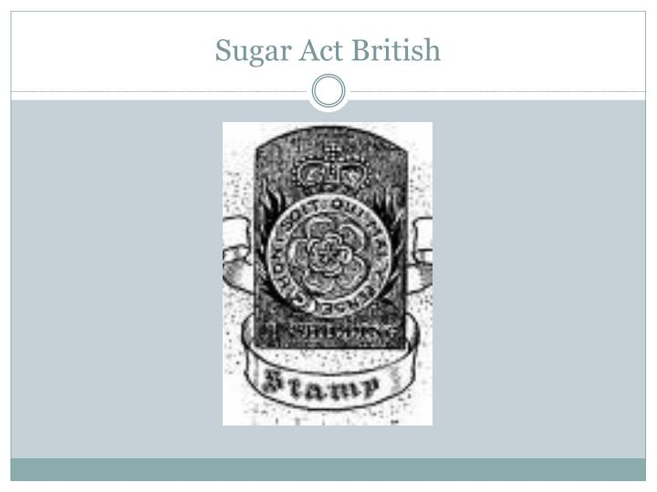 Sugar Act British