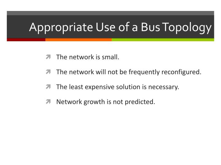 Appropriate Use of a Bus Topology