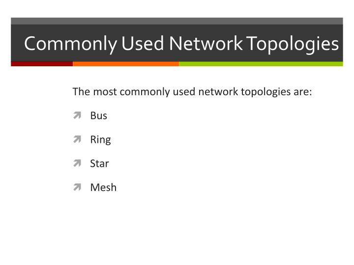 Commonly Used Network Topologies