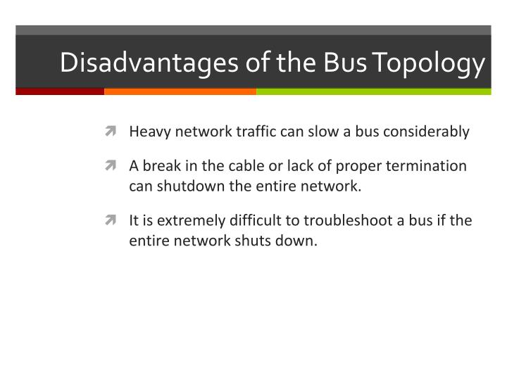 Disadvantages of the Bus Topology