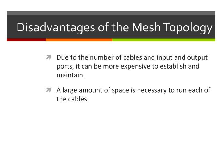 Disadvantages of the Mesh Topology