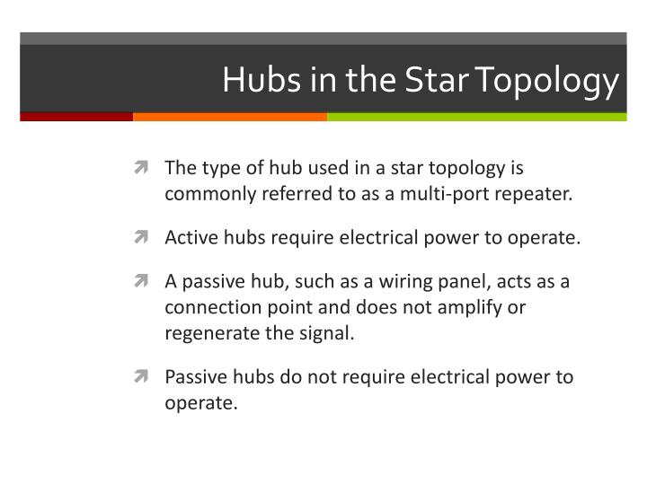 Hubs in the Star Topology