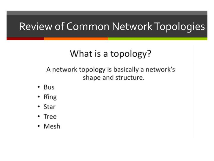 Review of Common Network Topologies