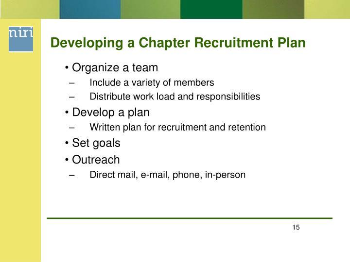 Developing a Chapter Recruitment Plan