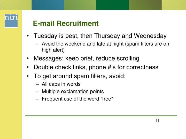 E-mail Recruitment