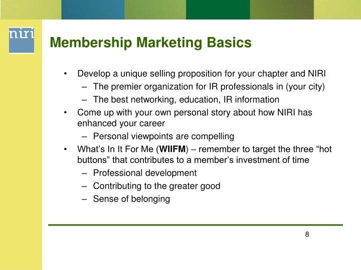 Membership Marketing Basics