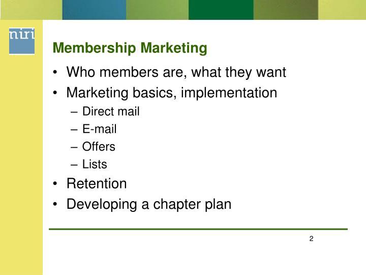 Membership Marketing