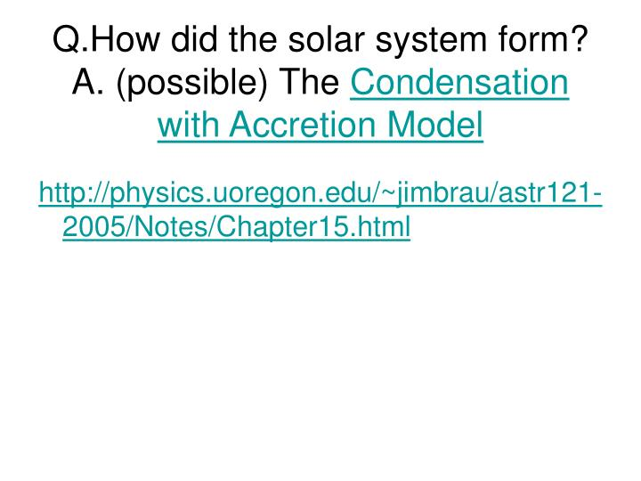 condensation in the solar system - photo #33