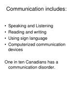 communication includes