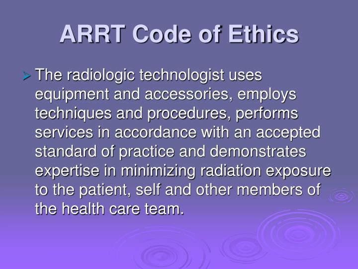 ARRT Code of Ethics