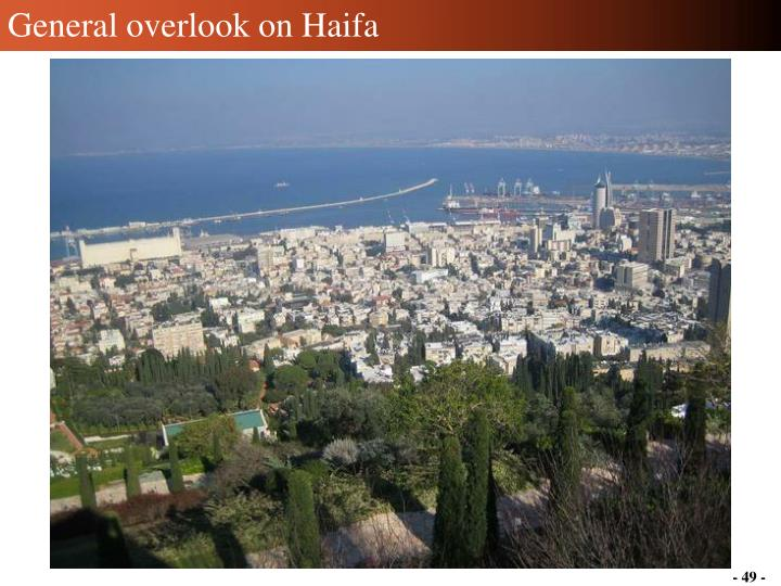 General overlook on Haifa