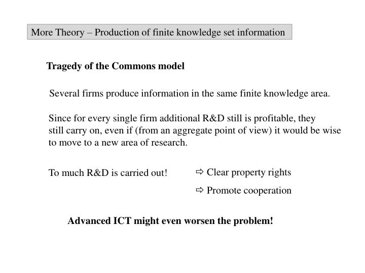 More Theory – Production of finite knowledge set information
