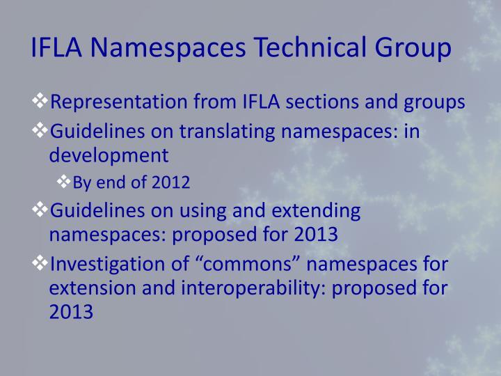 IFLA Namespaces Technical Group