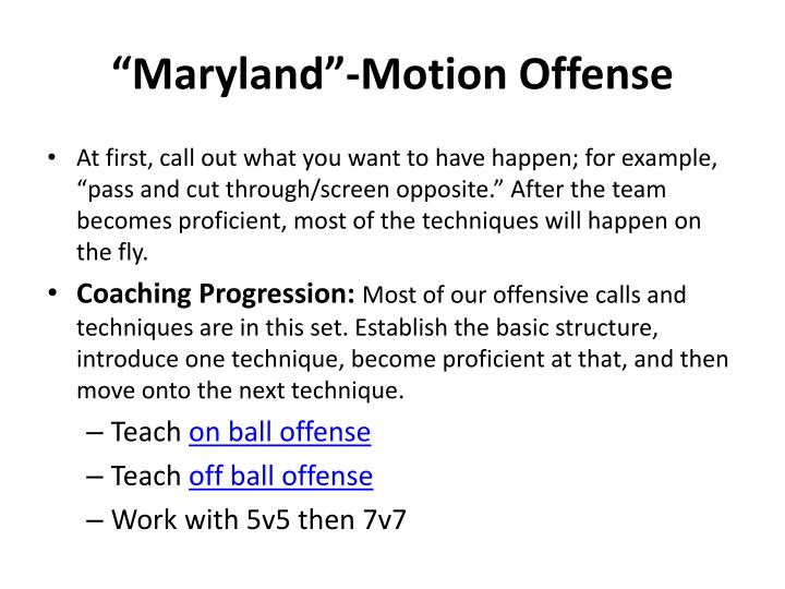 """Maryland""-Motion Offense"