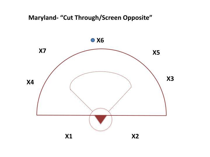 "Maryland- ""Cut Through/Screen Opposite"""