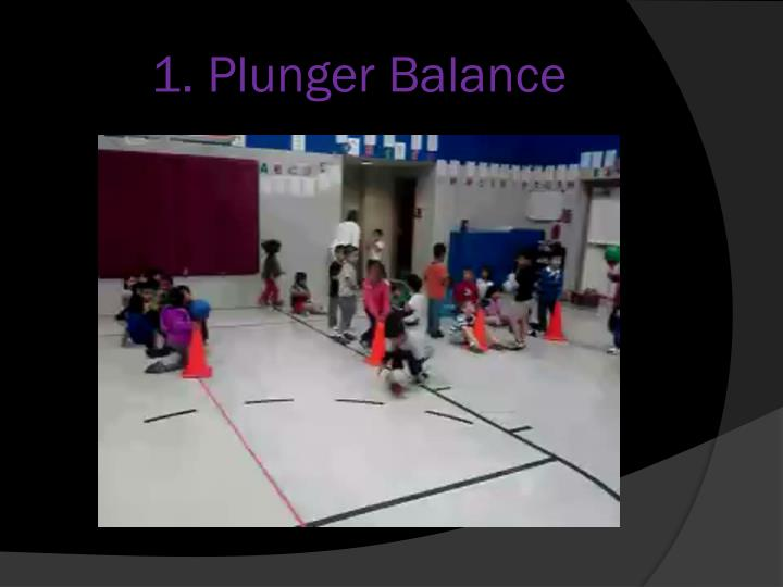 1. Plunger Balance
