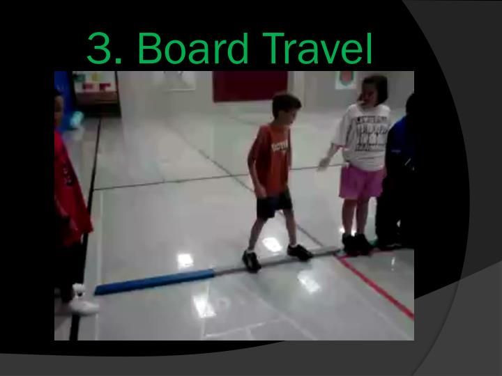 3. Board Travel