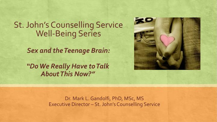 St john s counselling service well being series