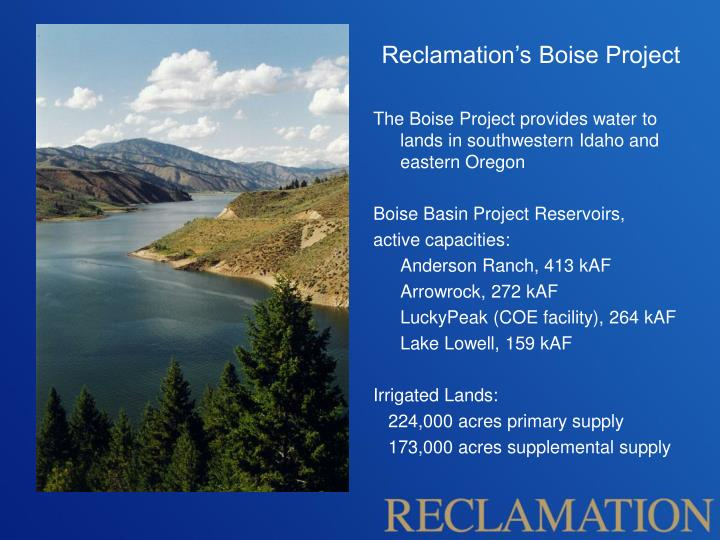 Reclamation's Boise Project