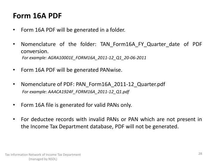 Form 16A PDF