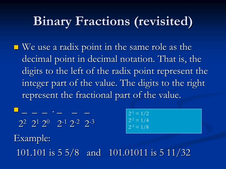 Binary Fractions (revisited)