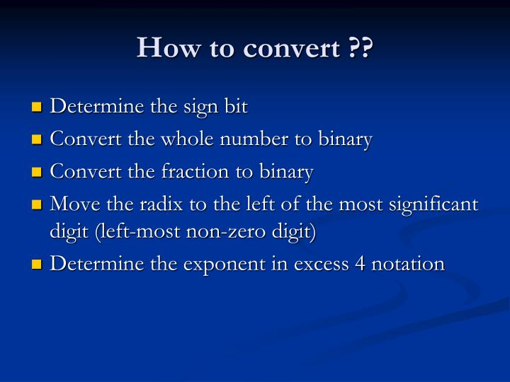 How to convert ??