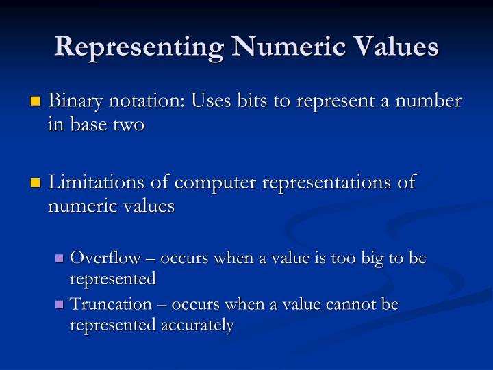 Representing Numeric Values