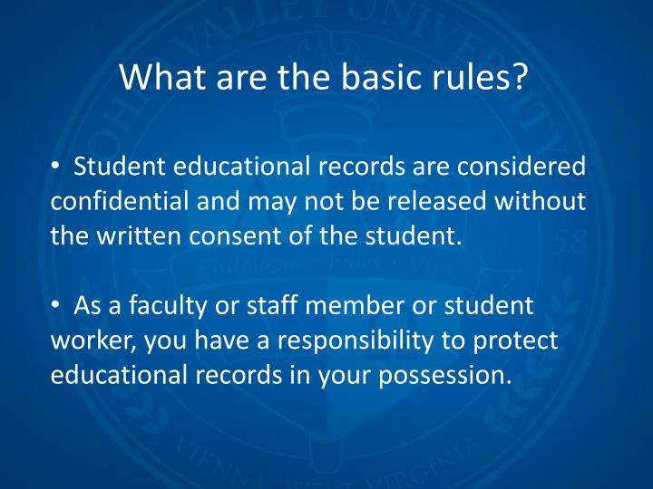 What are the basic rules?