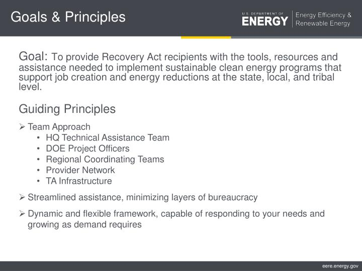 Goals & Principles