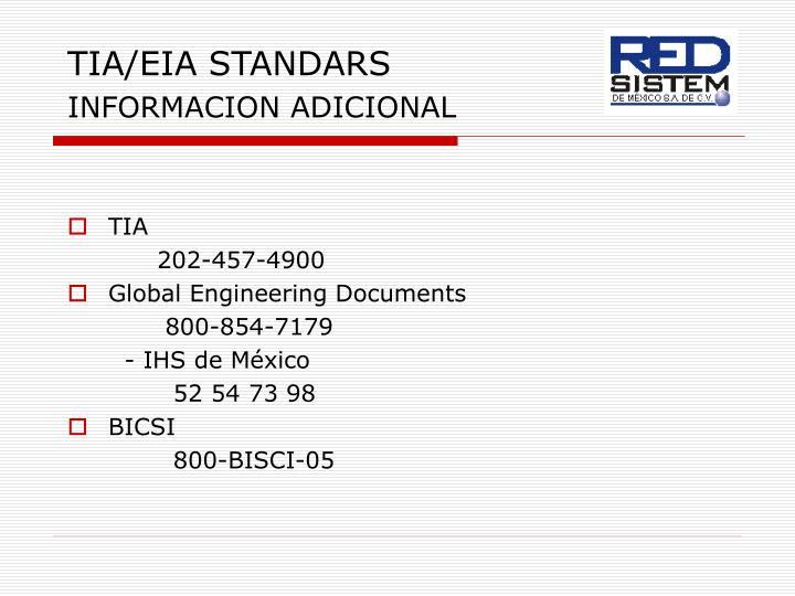 TIA/EIA STANDARS