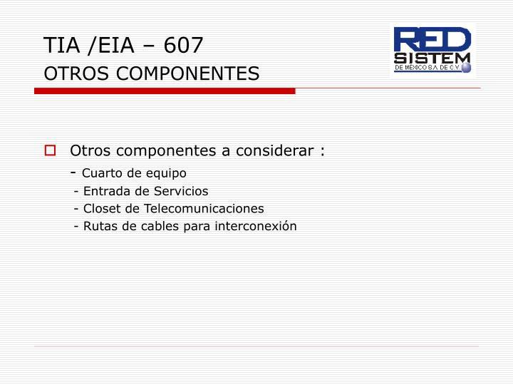 TIA /EIA – 607