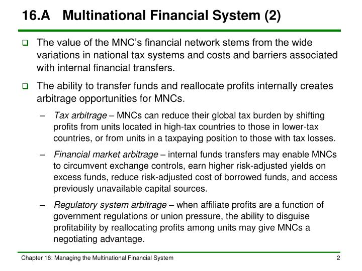 16 a multinational financial system 2