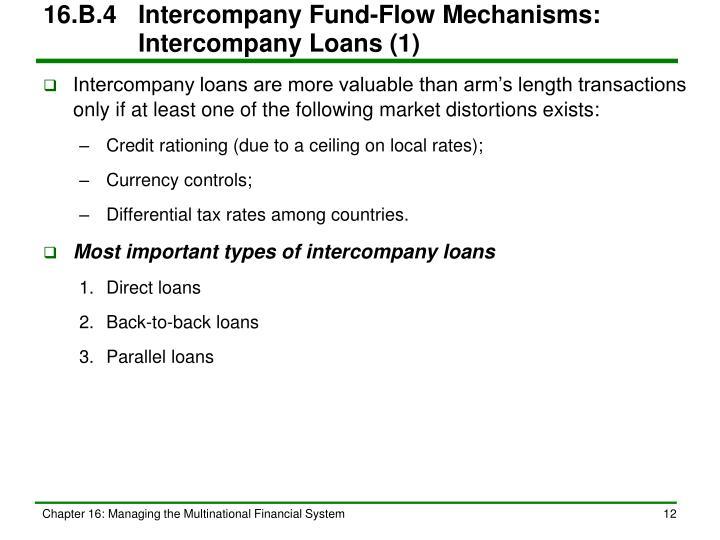 16.B.4Intercompany Fund-Flow Mechanisms:   Intercompany Loans (1)