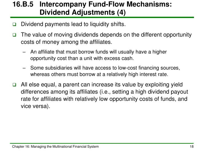 16.B.5Intercompany Fund-Flow Mechanisms:   Dividend Adjustments (4)