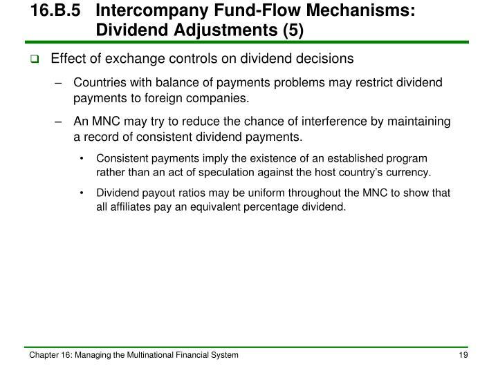 16.B.5Intercompany Fund-Flow Mechanisms:   Dividend Adjustments (5)