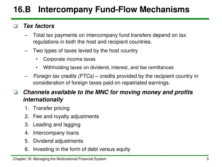 16.BIntercompany Fund-Flow Mechanisms