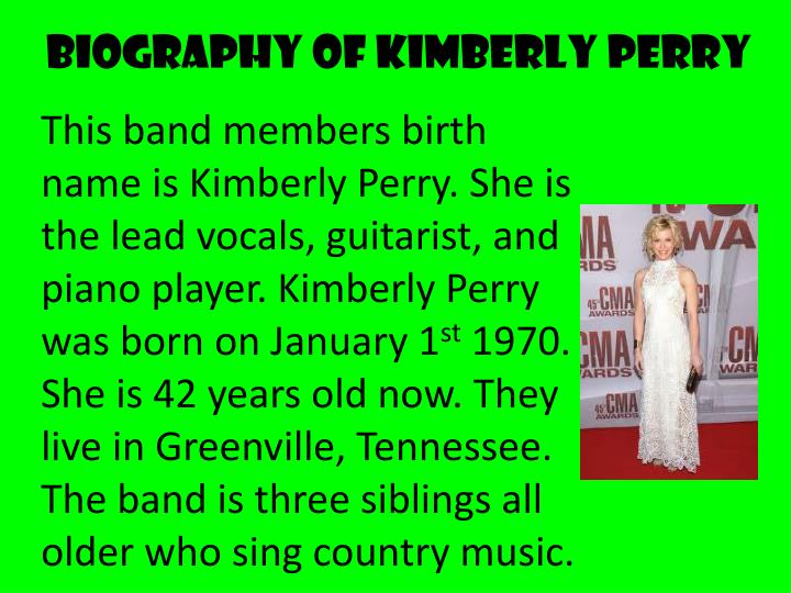 Biography of Kimberly Perry