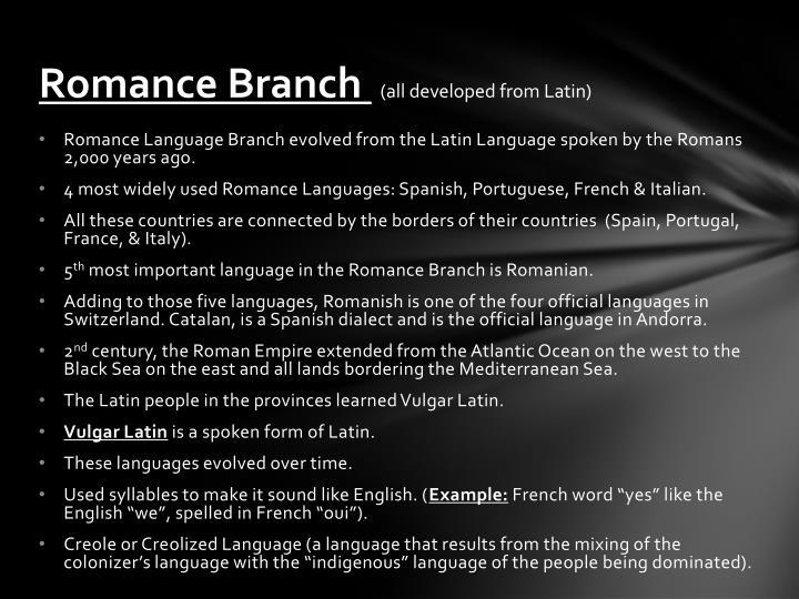 Romance Branch