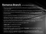 romance branch all developed from latin