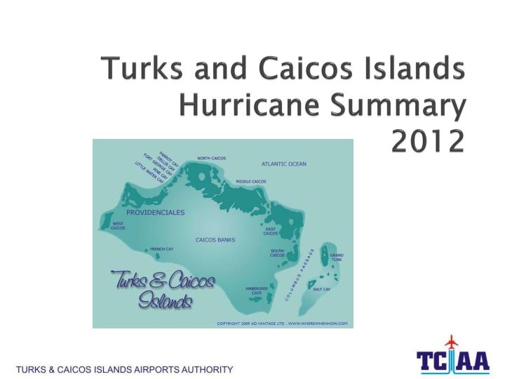Turks and caicos islands hurricane summary 2012