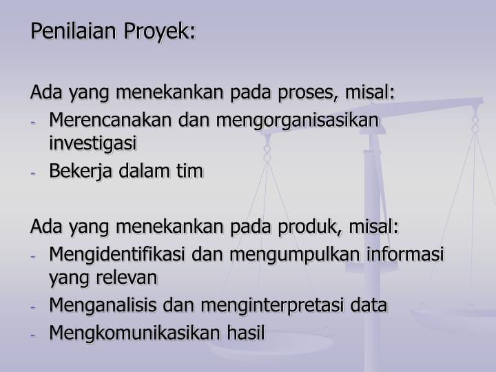 Penilaian Proyek: