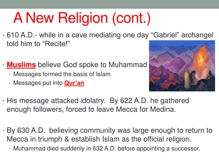 A New Religion (cont.)