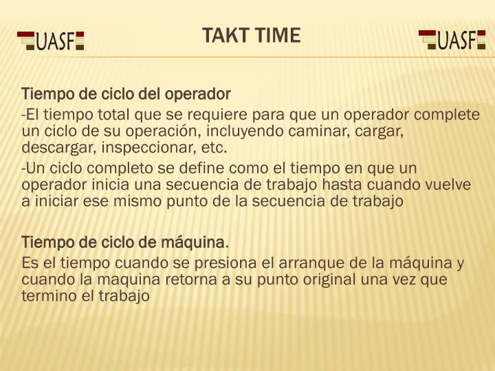 Tiempo de ciclo del operador