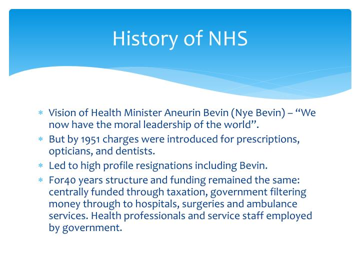 History of NHS