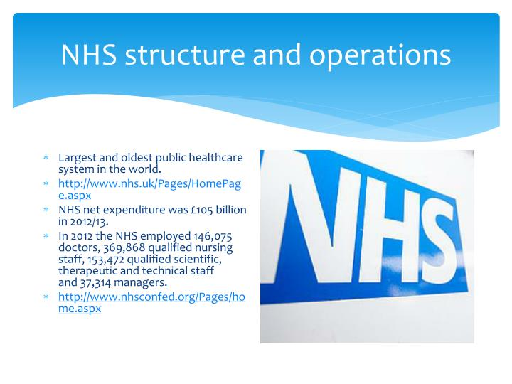 NHS structure and operations