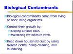biological contaminants