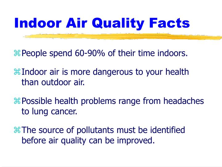 Indoor air quality facts