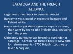 saratoga and the french alliance1