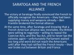saratoga and the french alliance2
